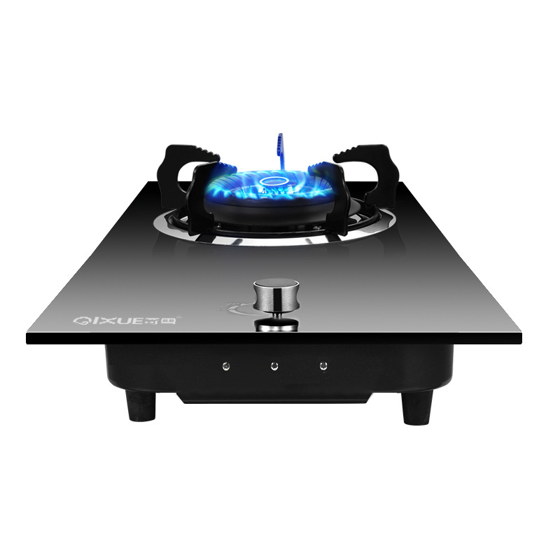 Stainless Steel Tempered Glass Fuel Gas Stove Embedded Mei Qi Zao Tai Embedded Dual Purpose Liquefied Gas