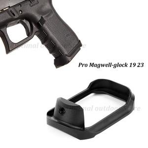 TOtrait táctico Mag-Bueno Pro Glock 19 23 32 38 GEN 3/4 agarre adaptador Base almohadilla para la caza de Airsoft Glock de aluminio de la serie negro