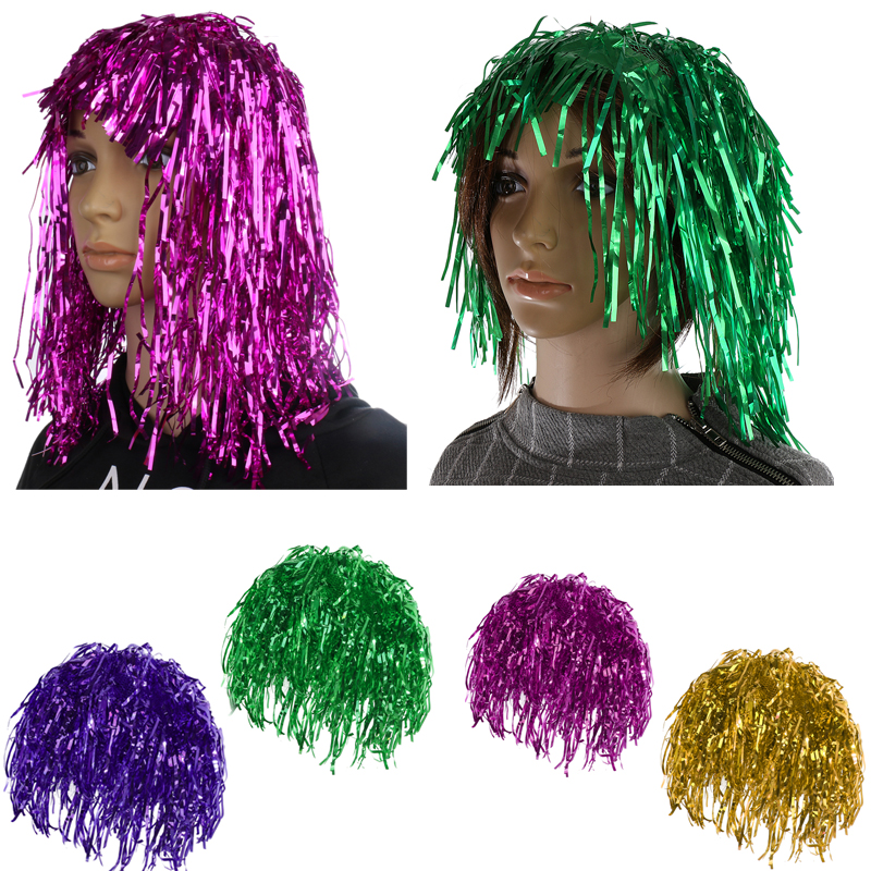 Tinsel Wig Choose From 6 Colours Fancy Dress Costume Party