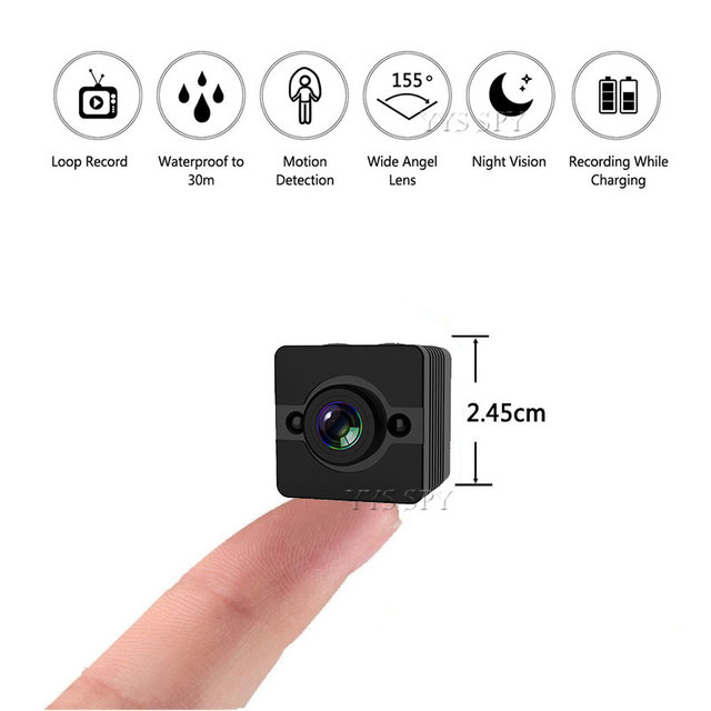 HD 1080P Mini Camera Motion Sensor Night Vision Wide Angle Video Recorder Micro Cam Spot Water Resistant Secret Camcorder SQ12
