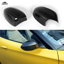 цена на For BMW Z4 20i 28i 30i 35is 2009 - 2018 Carbon friber rear mirror covers E89 side Rearview mirror cap stick on 2pcs