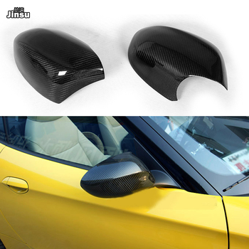 For BMW Z4 20i 28i 30i 35is 2009 - 2018 Carbon friber rear mirror covers E89 side Rearview mirror cap stick on 2pcs image