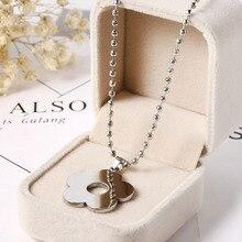 Kpop Harajuku Kawaii Choker Stainless Steel Flower Beads Necklace for Women Men Egirl Gothic Colar Streetwear Aesthetic Jewelry