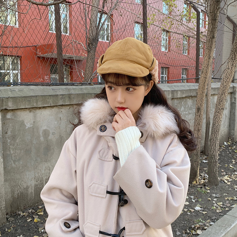 Cute Winter Bomber Hats for Womer Winter Hats Boys Girls Cap Wool Cotton Snow Cap Cotton Earflaps Russian Hats Earmuffs