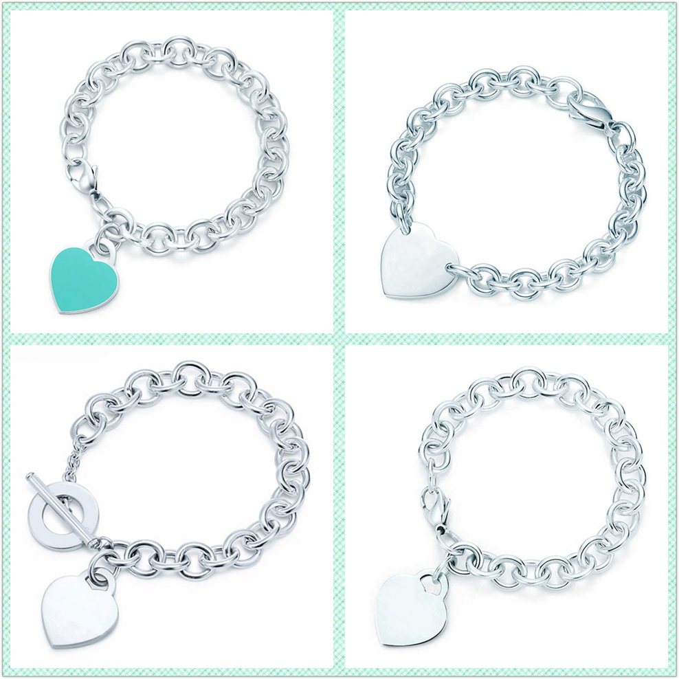 TIF 925 Sterling Silver Heart-shaped Bracelet, Classic Style Does Not Fade, Send Girlfriends Holiday Gift