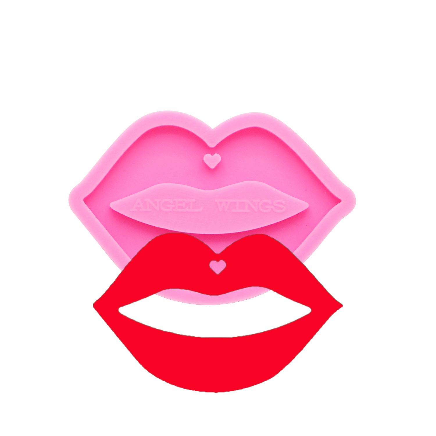 Shiny keychains Lips Silicone Molds DIY mouth Jewelry keychain mould Epoxy Resin Mold Custom DY0170