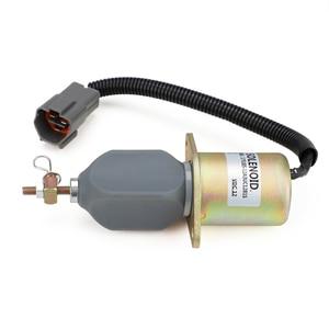 Image 4 - 1751ES 12A3UC12B1S R60 5 Arresto Del Combustibile Solenoide per Hyundai Escavatore Yanmar 12V YC101632