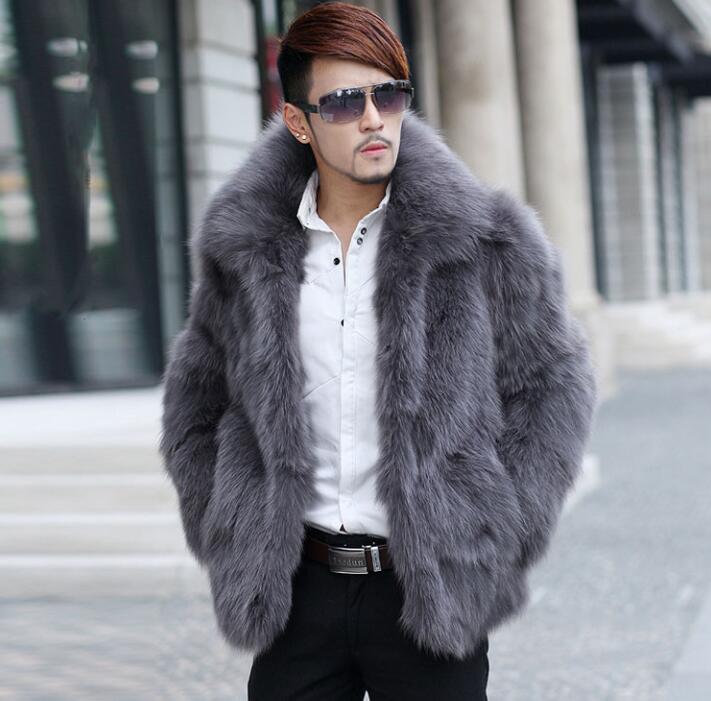Autumn Faux Mink Fur Leather Jacket Mens Winter Thicken Warm Fur Leather Coat Men Loose Jackets Fashion B212