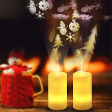 2019 LED Candle Remote Control Projection Light For Xmas Wedding Party Christmas Romantic Decoration