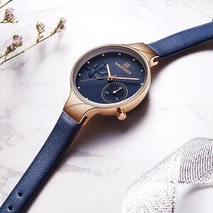 Image 3 - נשים שעוני יוקרה מותג NAVIFORCE קוורץ גבירותיי שעון שמלת שעון יד תאריך שעון עם תיבת סט למכירה Relogio Feminino