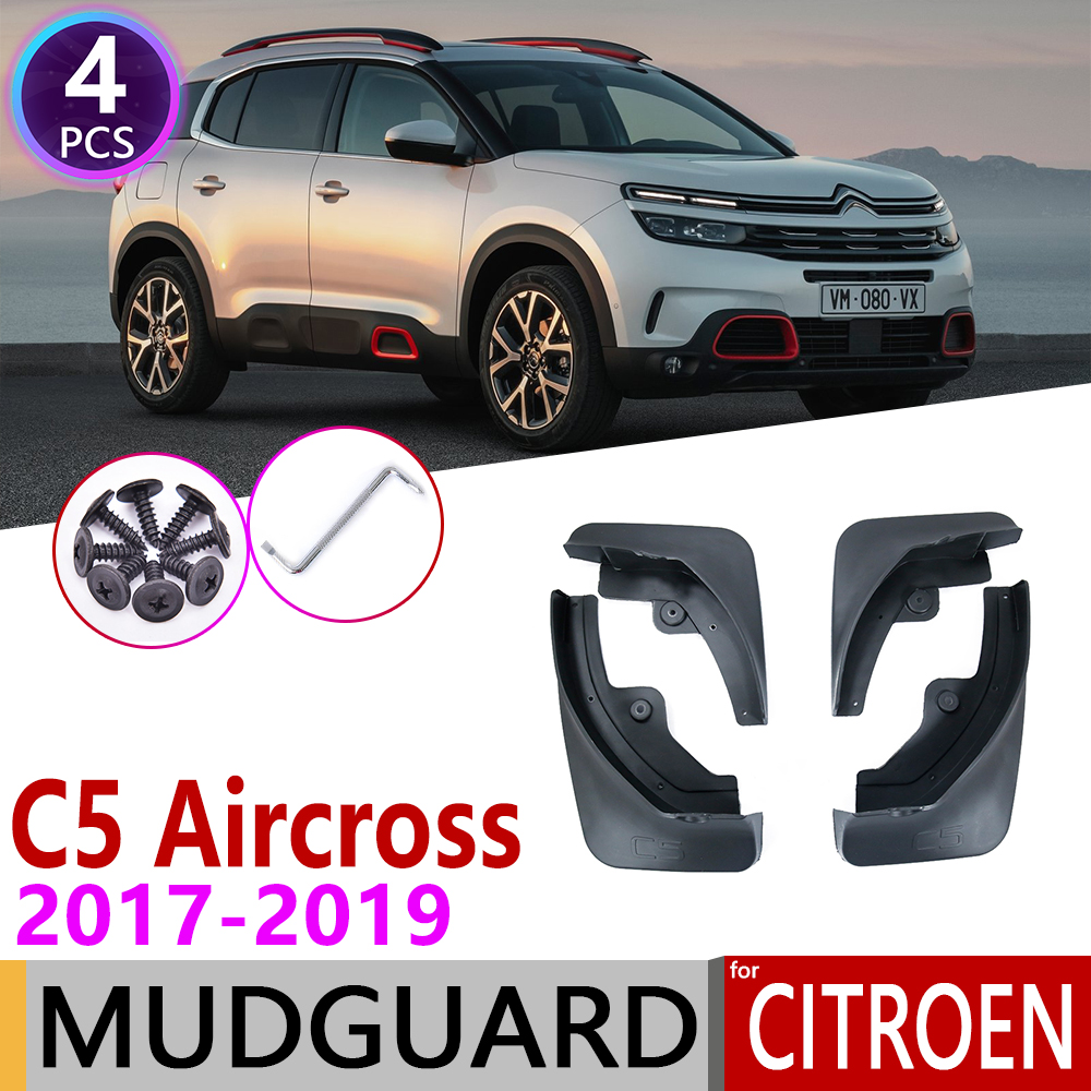 For Citroen C5 Aircross 2017 2018 2019 4PCS Front Rear Car Mudflap Fender Mudguards Mud Flaps Guard Splash Flap Accessories