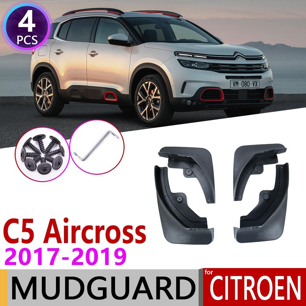 for Citroen C5 Aircross 2017 2018 2019 4PCS Front Rear Car Mudflap Fender Mudguards Mud Flaps Guard Splash Flap Accessories