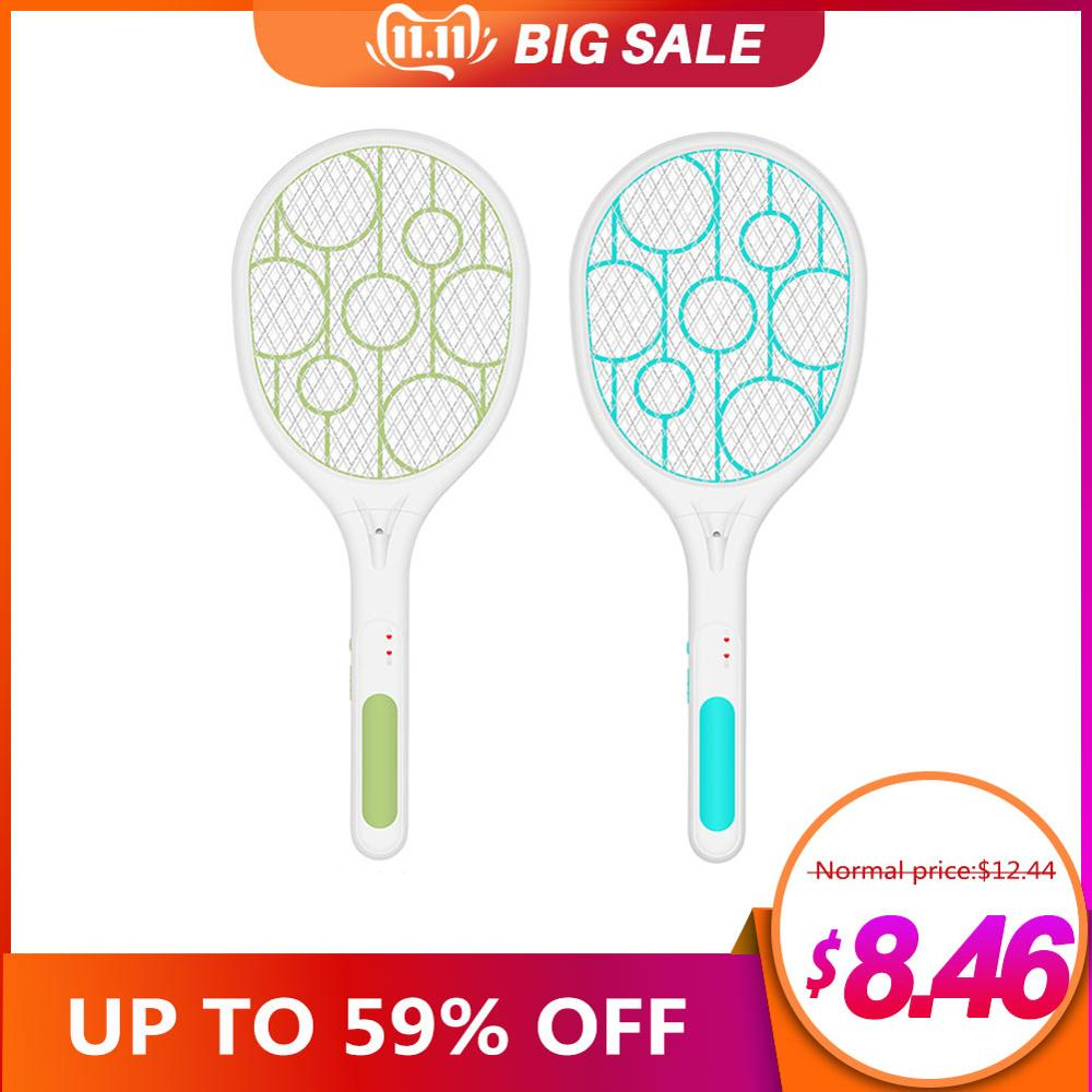 Home Electric Fly Mosquito Swatter Mini Bug Zapper USB Charging Triple-Layer Safety Mosquito Flies Killer Battery Trap Swatter