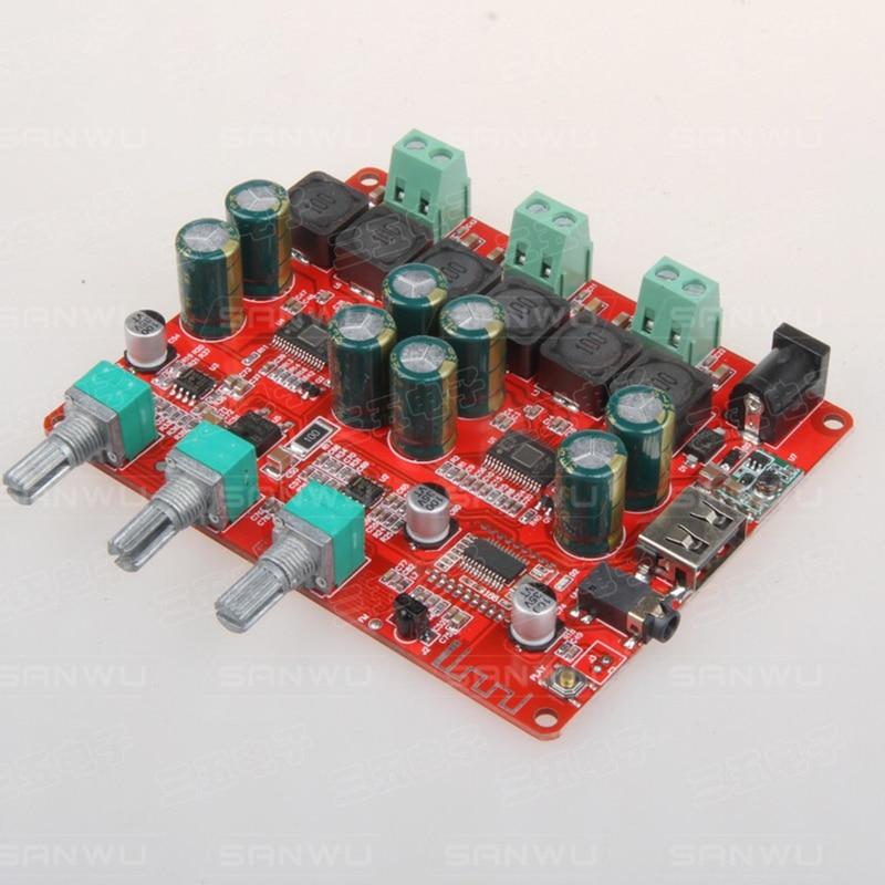 TPA3116 Bluetooth 4,2 цифровой усилитель мощности 50 Вт + 50 Вт + 100 Вт 2,1 streo аудио усилитель