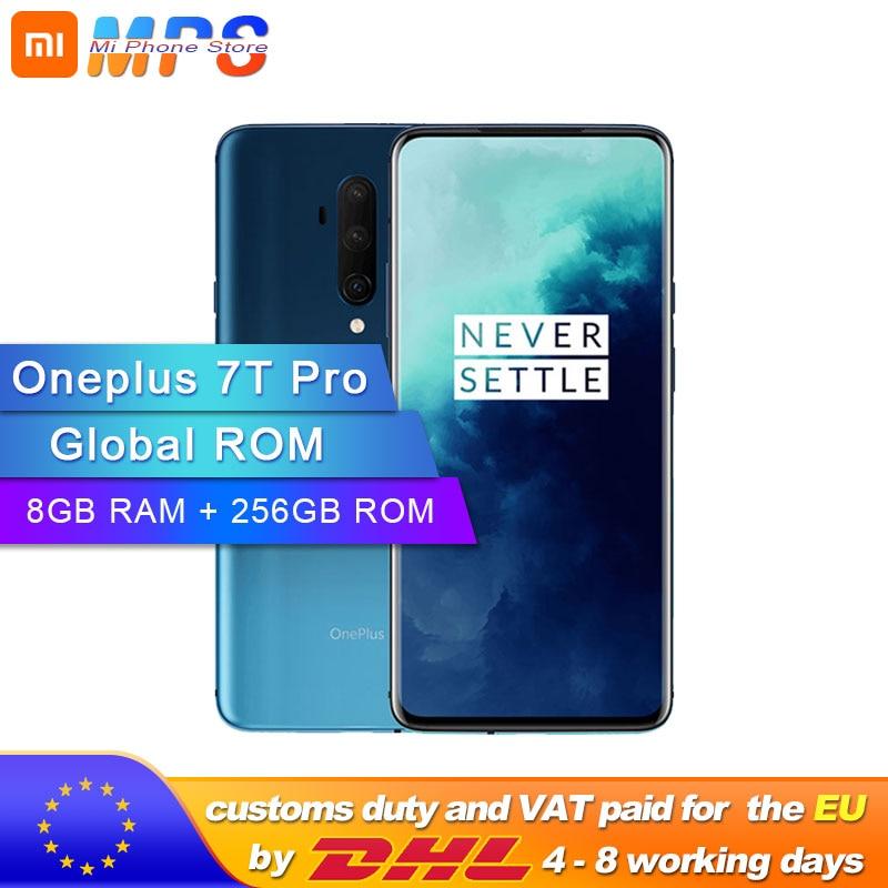 Global ROM New OnePlus 7T Pro Snapdragon 855 Plus 8GB RAM 256GB ROM 6.67'' AMOLED 90Hz Refresh Rate Screen Triple Camera 4085mA