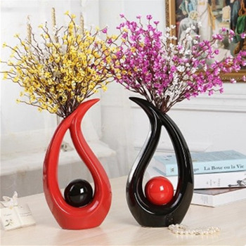 Abstraction Water Droplets Ceramic Flowers Vases Creative Home Arrange Flowers Decoration Accessories Crafts X3288
