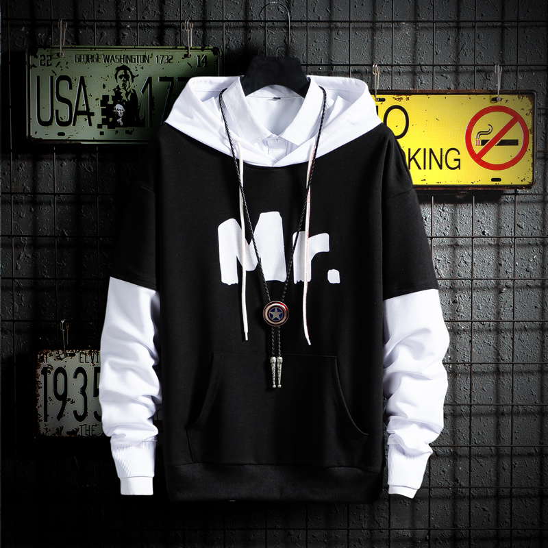 Men Hip Hop Hoodie Sweatshirt Mr Print 2019 Harajuku Streetwear Pullover Cotton Autumn Hooded Sweatshirts