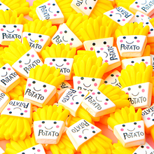 10Pcs Fries Polymer Addition Slime Charms Modeling Clay DIY Kit Accesorios Box Toy for Children Supplies Lizun Kids E