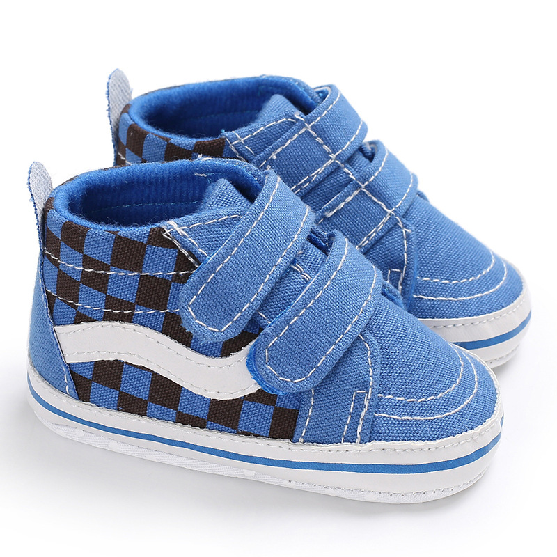 Fashion Baby Shoes Boy Girl New Colors Canvas Gingham Booties 0-2 Years Hook Loop Baby Boots First Walkers Toddler Crib Shoes