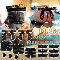 14PCS/Set ABS Upgrade Body Building Trainer EMS Trainer Wireless Muscle Training Gear Massage Stimulator Replacement Gel Kit