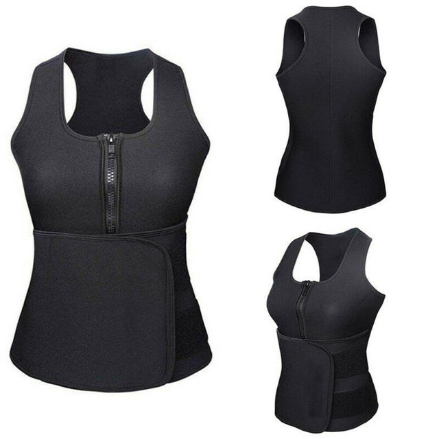 Hot Sell Women Corset Sauna Sweat Gym Waist Trainer Vest Shaper Slim Adjustablet Belt Corset Women's Shapewear 4