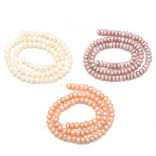 Hot 6 Colors Natural Freshwater Pearls Beads High Quality 36 Cm Punch Loose for Jewelry Bracelets Necklace Making 5-6 Mm