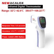NEWACALOX ללא מגע טמפרטורת בוחן אינפרא אדום LCD תצוגה דיגיטלי מדחום IR לייזר פוינט אקדח טמפ