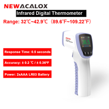 NEWACALOX Non contact Temperature Tester Infrared LCD Display Digital Thermometer IR Laser Point Gun Temp Tester