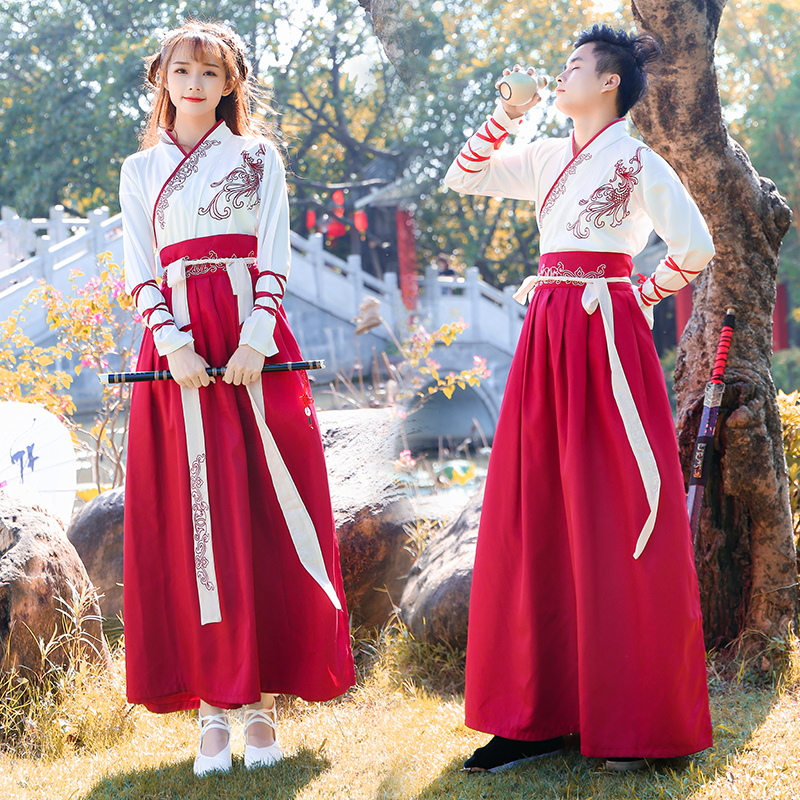 Women Chinese Traditional Hanfu Dress Lady Swordsman Stage Cosplay Costume Ancient Female Han Dynasty Princess Dance Clothing