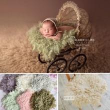 Baby Blanket Photo Prop New Zealand Curled Wool Felt Shooting Mats Newborn Photography Backdrops Bebe Fotografia Accesorios Boy