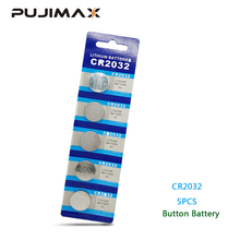 PUJIMAX 5pc/pack CR2032 Watch Button Battery DL2032 BR2032 KL2032 3V Lithium Clock Laser Pen LED Light Computer Coin Battery