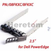 Heretom 08FKXC/8fkxc G176j Dell PowerEdge R730 R820 R920 캐디 브래킷 (나사 포함) 용 2.5