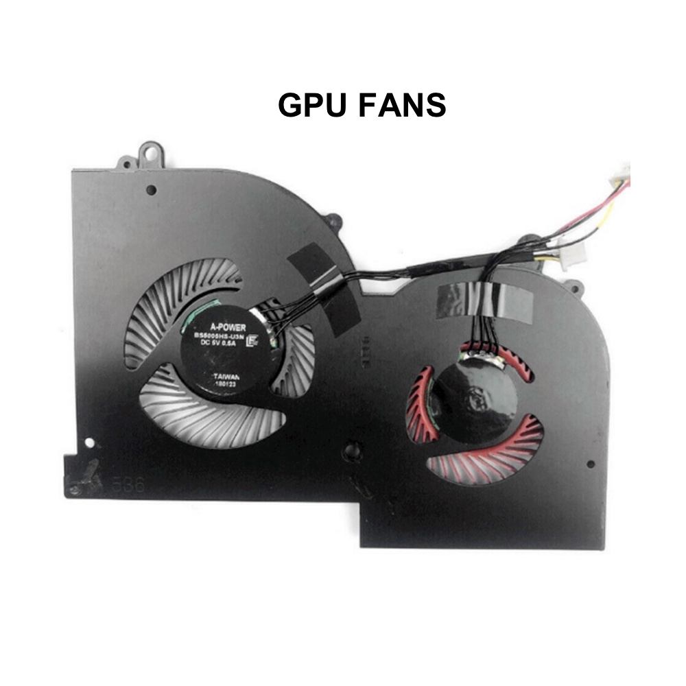 Original GPU CPU Cooling fans for MSI GS65 GS65VR MS-16Q2 Series Laptop CPU GPU VGA Cooler Fan 5V 4PIN 16Q2-CPU-CW BS5005HS-U31 6