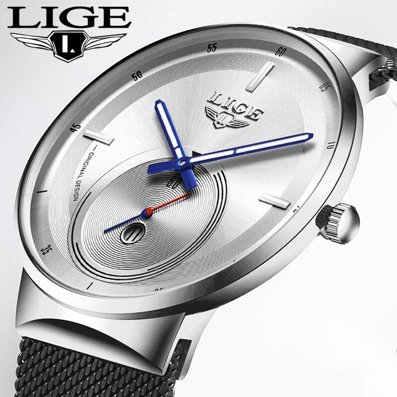 LIGE New Mens Watches Top Brand Luxury Fashion Business Quartz Watch Men Simple Waterproof ClockVariety Of Styles Reloj Hombre