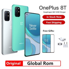 Global Rom Oneplus 8T 5G cellulare 65W Super Charge 4500mAh Snapdragon 865 Android 11 Smart Phone NFC Google Play schermo AMOLED