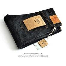 Molho de origem 915-pi calças de brim masculinas de grife para homens atarraxamento ajuste selvedge denim crus jeans botão fly artesanal vintage