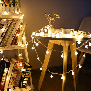 Fairy Garland RGB LED Ball String Lights 1.5M 3M Waterproof For Christmas Tree Wedding Home Indoor Decoration Battery Powered