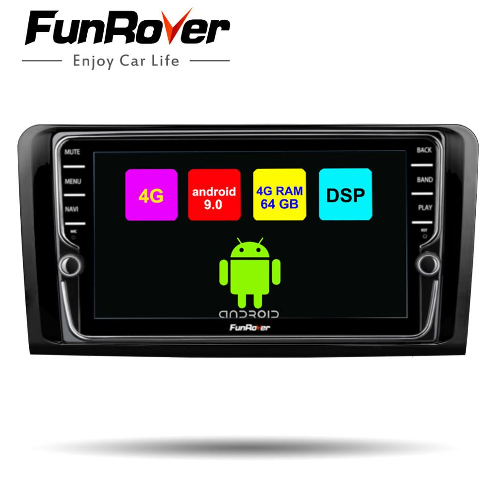 Funrover 8 Cores Android 9.0 2 Din Car Dvd Multimedia Player For Mercedes Benz ML W164 GL X164 ML350 ML320 ML280 GL350 Gps Radio