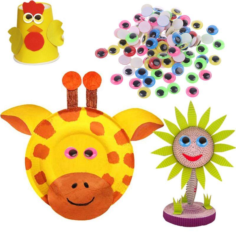 100шт 8мм% 2F10mm% 2F12mm% 2F15mm смешанный цвет сам клей глаза для куклы медведя мягкие игрушки DIY Craft B36E