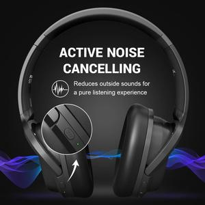 Image 2 - EKSA E5 Bluetooth 5.0 Headphones 920mAh Active Noise Cancelling headphone Wireless Headset With Mic For Phones Foldable Over Ear