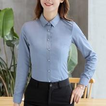Women Shirts Elegant Cotton White Plus Size Korean Fashion Woman Slim Blouses Shirt 5xl OL Long Sleeve