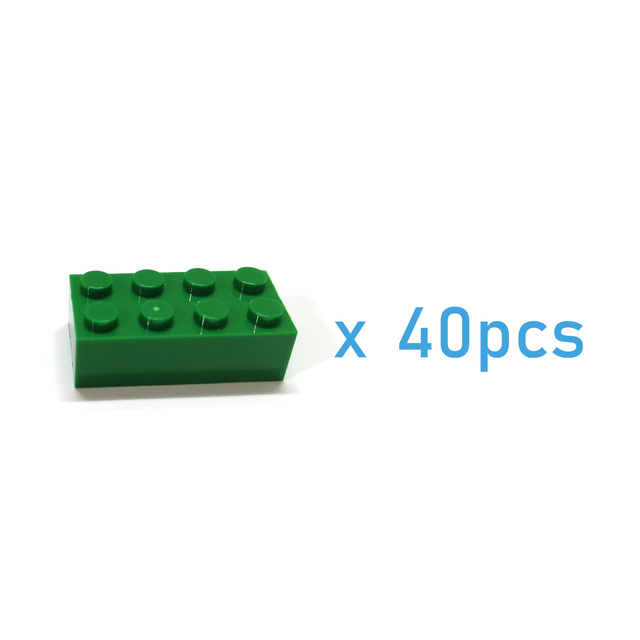 40pcs DIY Building Blocks Thick Figures Bricks 2x4 Dots Educational Creative Size Compatible With lego Plastic