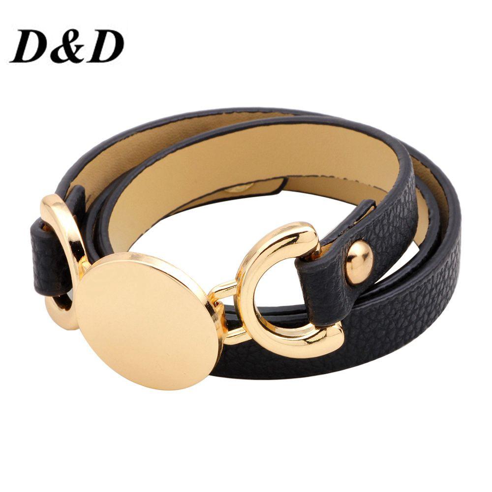 Bracelets & Bracelets nouveauté 2018 nouveau Bracelet Simple en cuir Ms Original multi-couche remontage acte le rôle de la dégustation