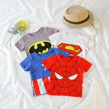 Boys and girls summer new childrens clothing baby clothes boys short-sleeved t-shirts cotton