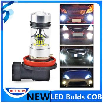 Car Fog Lights Bulb For H11 H8 100W 6000K Super White Car LED Headlights Driving Bulb DRL Daytime Running Light Car Accessories image