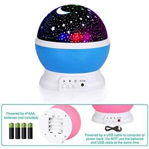 Image 4 - 3D Star Night Light Projector Lamp Letras Led Kids Starry Night Baby Lamps For Children lamparas moon light nightlight infantil