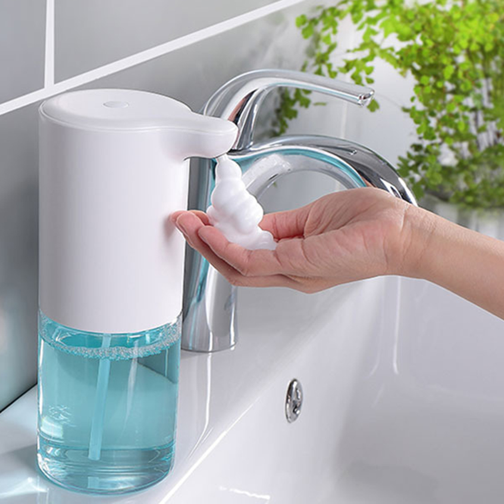 H3d2c4e976d7c437c88bd491e12414e9dB - 350ml Bathroom Automatic Soap Dispenser USB Charging Infrared Induction Foam Kitchen Hand Sanitizer Touch Bathroom Accessories