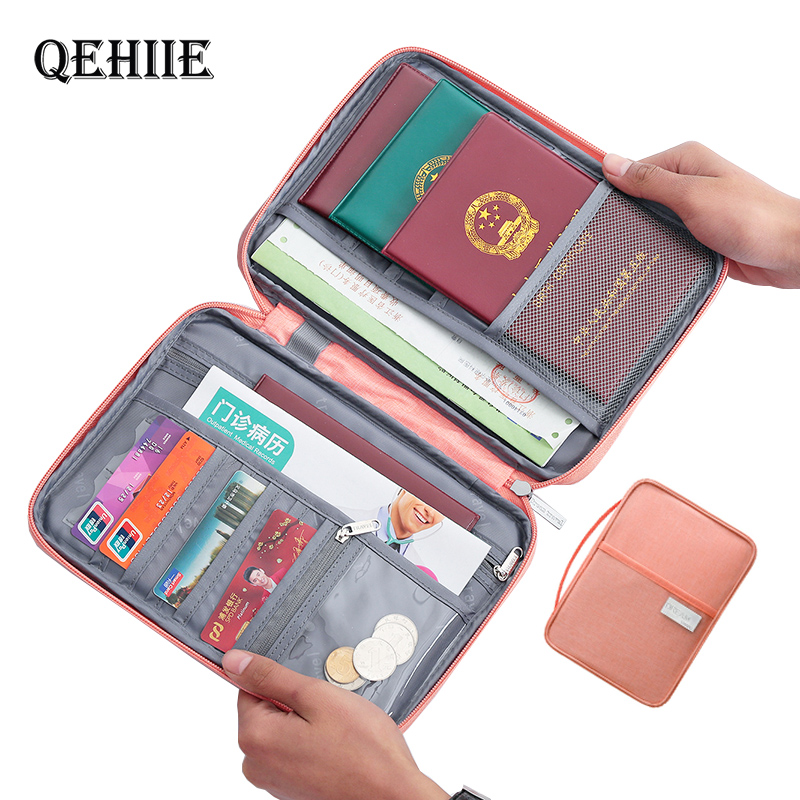 Hot Travel Wallet Family Passport Holder Creative Waterproof Document Case Organizer Travel accessories Document Bag Cardholder 1