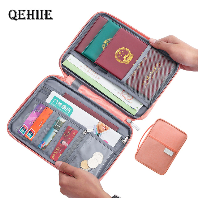 Hot Travel Wallet Family Passport Holder Creative Waterproof Document Case Organizer Travel accessories Document Bag Cardholder 1