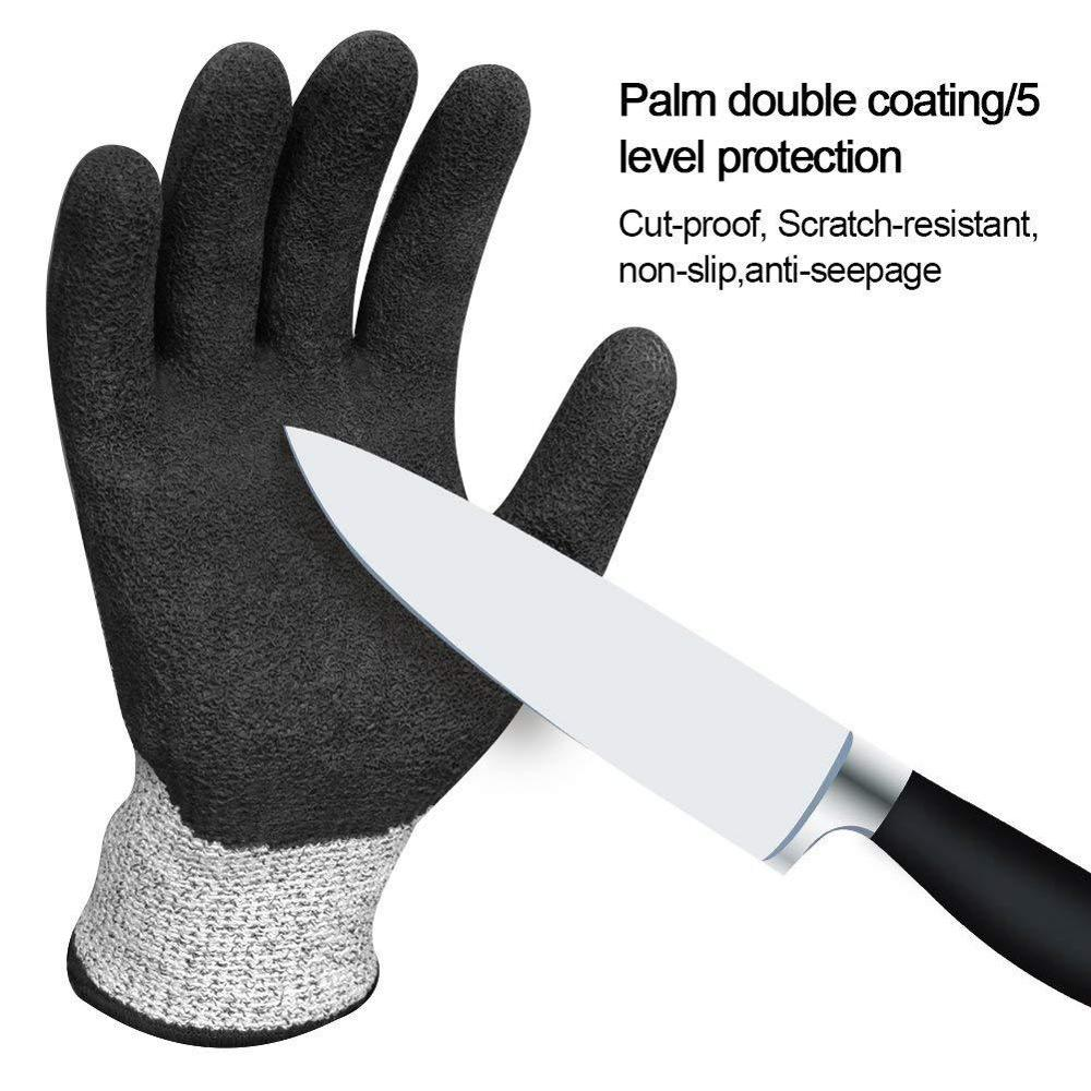 High Strength Grade Level 5 Protection Safety Anti Cut Gloves Scratch And Cut Resistant Gloves For Cutting Gardening Industrial